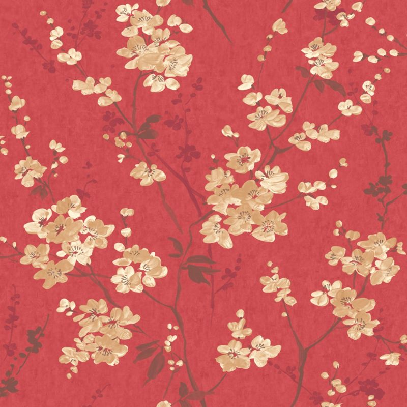 Pastel florals yellow blossom wallpaper for Wallpaper homebase gold