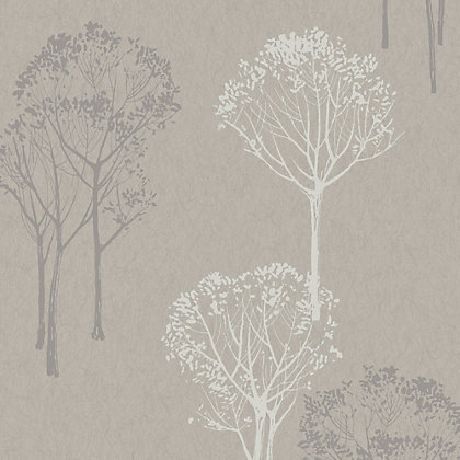Image for Velvet Grey Trees Wallpaper from StoreName