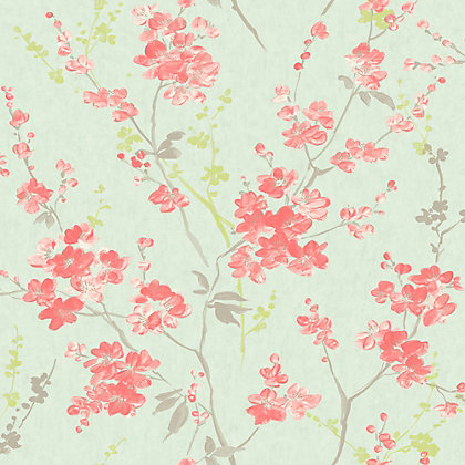 Image for Pastel Florals Cherry Blossom Wallpaper from StoreName