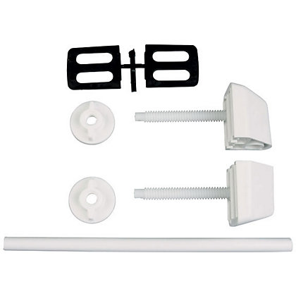 Image for Toilet Seat Hinges - White from StoreName