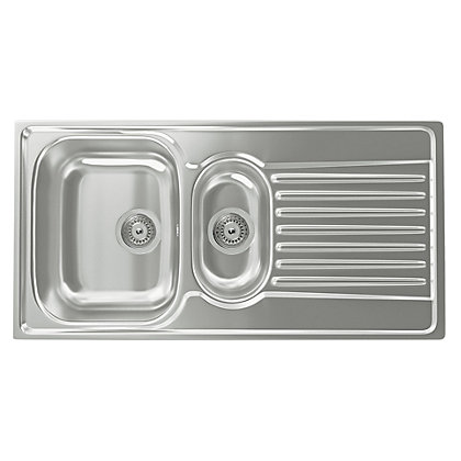 Image for Carron Phoenix Contessa 150 Kitchen Sink- 1.5 Bowl from StoreName