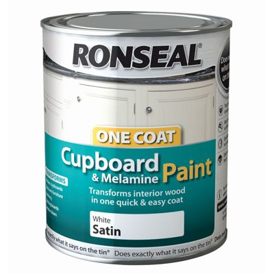 Ronseal Pure Brilliant White - One Coat Cupboard Paint -