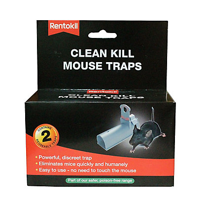 Image for Rentokil Clean Kill Mouse Trap (Pack of 2) from StoreName