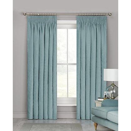 Image for Schreiber Osprey Chenille Lined Curtains - Duck Egg 66 x 90in from StoreName