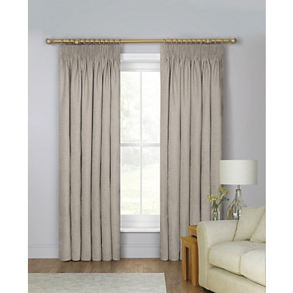 Image for Schreiber Osprey Chenille Lined Curtains - Putty 90 x 90in from StoreName