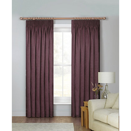 Image for Schreiber Osprey Chenille Lined Curtains - Cranberry 66 x 90in from StoreName