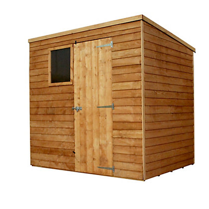 Image for Mercia Light Brown Overlap Pent Wooden Shed - 7x5ft from StoreName