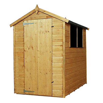 Image for Mercia Shiplap Apex Wooden Shed - 6x4ft from StoreName