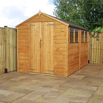 Image for Mercia Shiplap Apex Wooden Shed - 10x6ft from StoreName