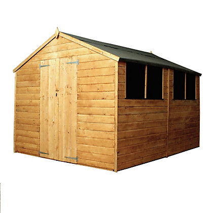 Image for Mercia Shiplap Apex Wooden Shed - 10x8ft from StoreName