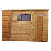 Mercia Light Brown Shiplap Pent Wooden Shed - 8x6ft