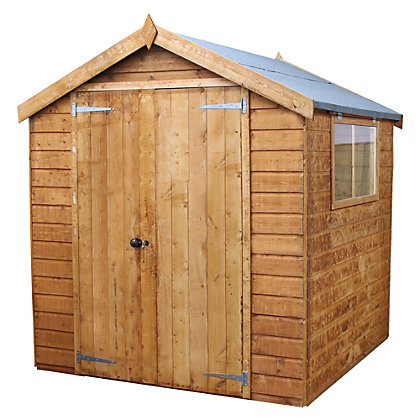 Image for Mercia Premium Shiplap Apex Wooden Shed - 6x6ft from StoreName
