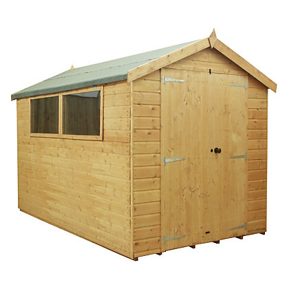 Image for Mercia Premium Shiplap Apex Wooden Shed - 10x8ft from StoreName