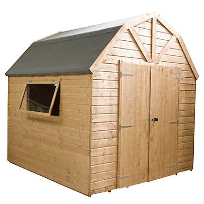 Image for Mercia Premium Shiplap Wooden Barn - 8x8ft from StoreName