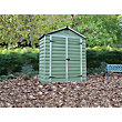 Mercia Green Plastic Shed - 3x6ft
