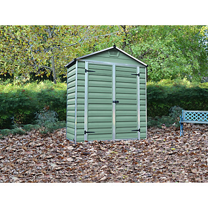 Image for Mercia Green Plastic Shed - 3x6ft from StoreName