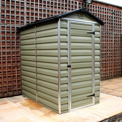 Mercia Green Plastic Shed - 4x6ft
