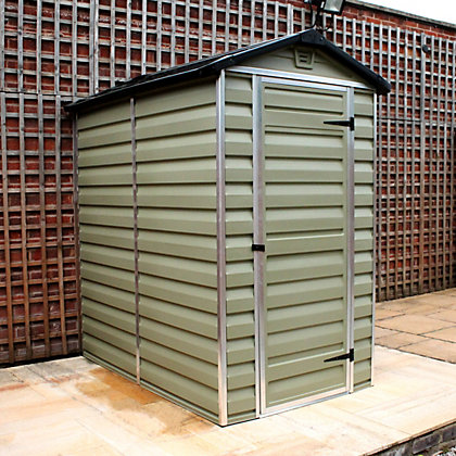 Image for Mercia Green Plastic Shed - 4x6ft from StoreName