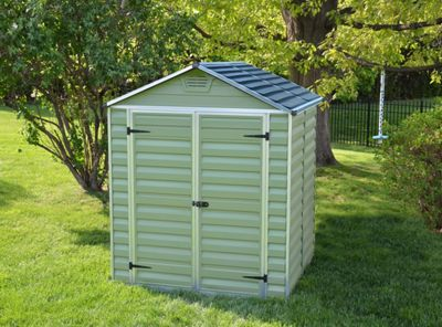Mercia Green Plastic Shed - 5x6ft