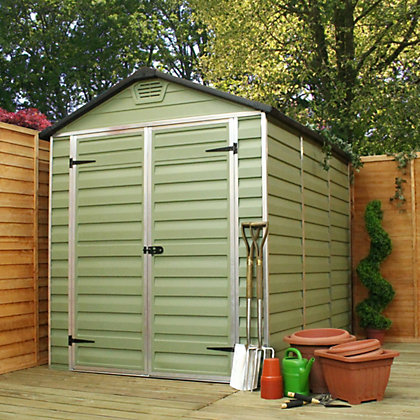Image for Mercia Green Plastic Shed - 8x6ft from StoreName