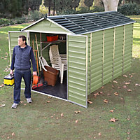 Mercia Green Plastic Shed - 12x6ft