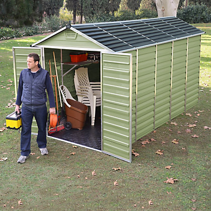Image for Mercia Green Plastic Shed - 12x6ft from StoreName