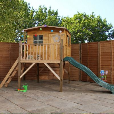 Mercia Cottage Tower Playhouse and Slide