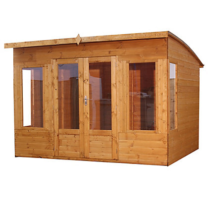 Image for Mercia Premium Helios Wooden Summer House - 9ft 11in x 9ft 7in from StoreName