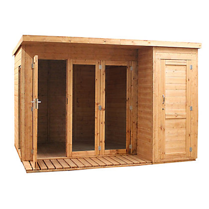 Image for Mercia Premium Wooden Garden Room with Side Shed - 10ft 2in x 8ft 4in from StoreName