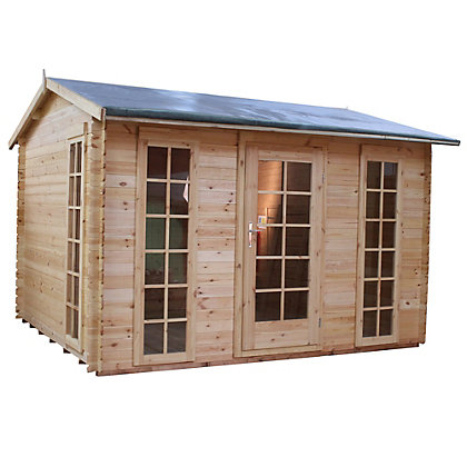 Image for Mercia 19mm Sunroom Log Cabin - 11ft 7in x 11ft 8in from StoreName