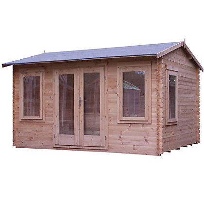 Image for Mercia 19mm Retreat Log Cabin - 13ft 3in x 11ft 8in from StoreName