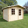 Mercia 28mm Wooden Log Cabin - 12ft 2in x 9ft 11in