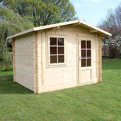 Image for Mercia 28mm Wooden Log Cabin - 12ft 2in x 9ft 11in from StoreName