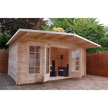 Image for Mercia Wooden Hobby Room Log Cabin - 17ft 11in x 13ft 7in from StoreName