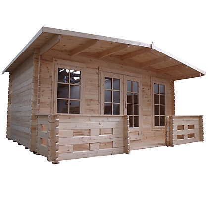 Image for Mercia Wooden Hobby Room Log Cabin With Veranda - 17ft 11in x 13ft 7in from StoreName