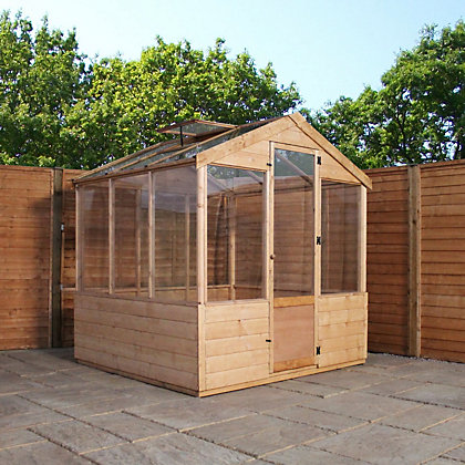 Image for Mercia Wooden Greenhouse - 8x6ft from StoreName