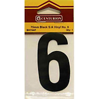 House Number Plate - Black - 6