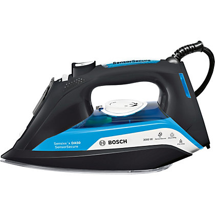 Image for Bosch TDA5080GB Steam Iron 3000W - Black And Blue from StoreName