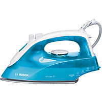Bosch TDA2633GB 2200W Steam Iron - White And Blue