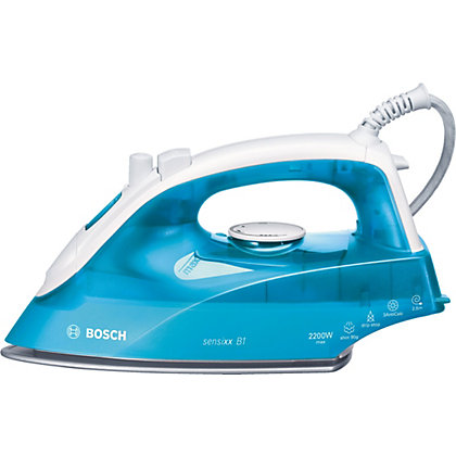 Image for Bosch TDA2633GB 2200W Steam Iron - White And Blue from StoreName