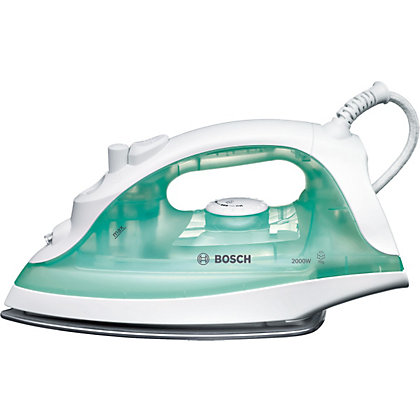 Image for Bosch TDA2301GB 2100W Steam Iron - White And Green from StoreName
