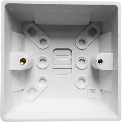 Image for 1 Gang 32mm Surface Mounting Pattress Box - White from StoreName