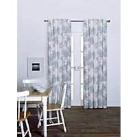 Lucia Duck Egg Eyelet Curtains - 66 x 54in