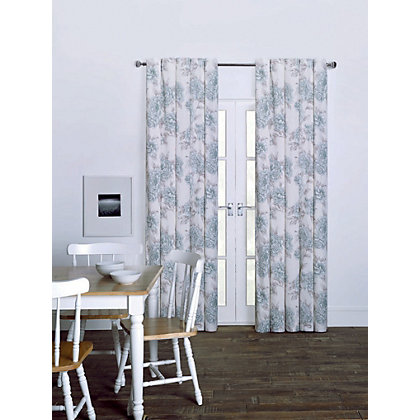 Image for Lucia Duck Egg Eyelet Curtains - 66 x 72in from StoreName