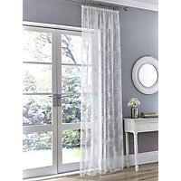 Allium Floral Tape Top Voile Curtain - 57 x 54in