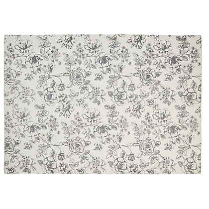 Image for Schreiber Evelyn Ditressed Floral Rug - 170 x 120cm from StoreName