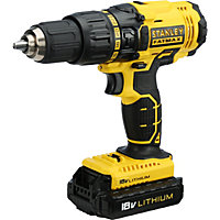 Stanley Fatmax Lithium Ion Cordless Hammer Drill with 2 x 1.3Ah Battery - 18V