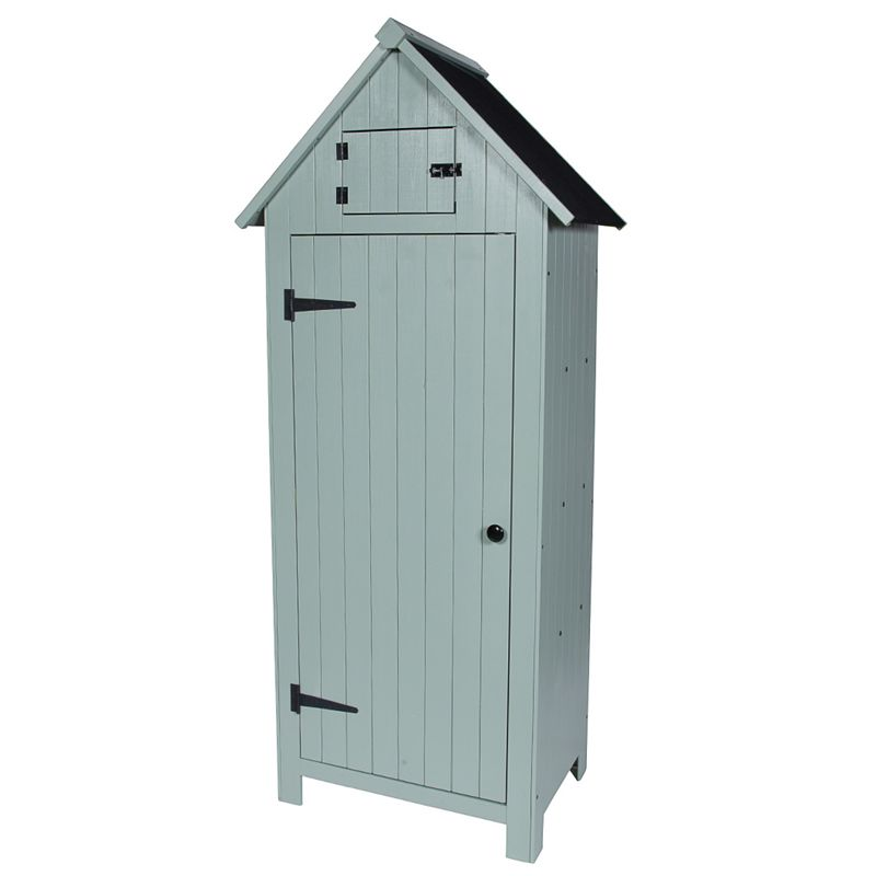 Sentry garden store shed putty grey at homebase for Garden shed homebase