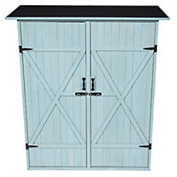 Garden Double Door Storage Shed - Sage