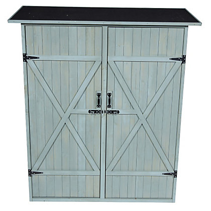Image for Garden Double Door Storage Shed - Grey from StoreName